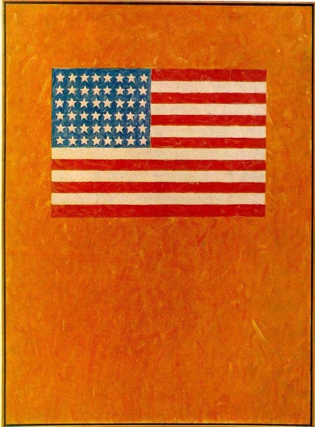 Jasper Johns, Flag Orange Field - geeksusie | ello