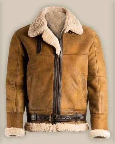 Brown B3 Shearling Sheepskin Le - mrstyless | ello