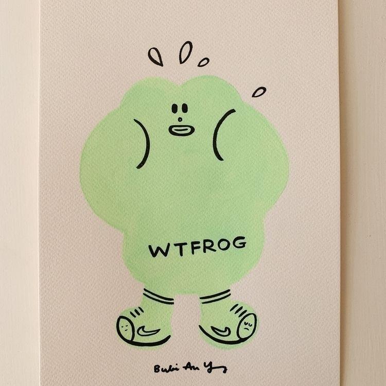 WTFrog - inkseries, frog, character - bubi | ello