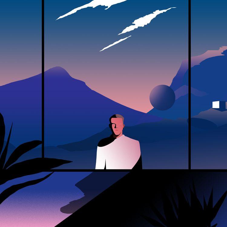 Spaceman / 2019 - ello, illustration - tolgatarhan | ello