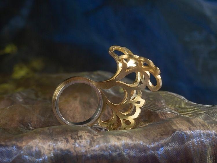 Ring 'Brass Impress' ring frien - mappie | ello