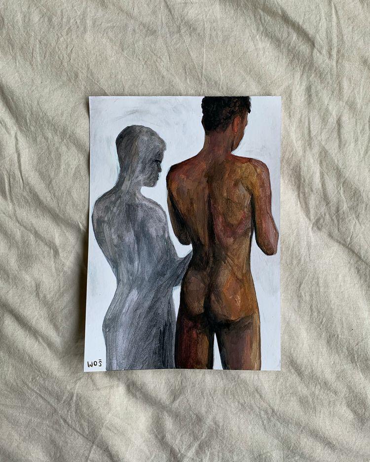 Alter-suspicious, Acrylic paint - wojciechwos | ello