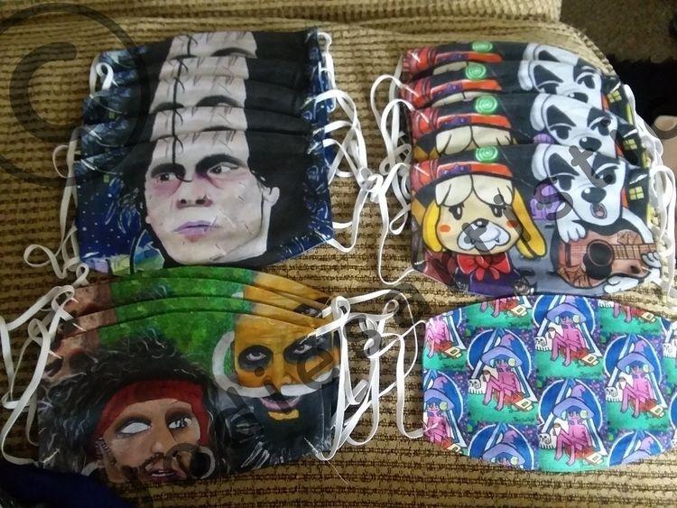 artwork printed masks.. medical - avengedjodiefold | ello