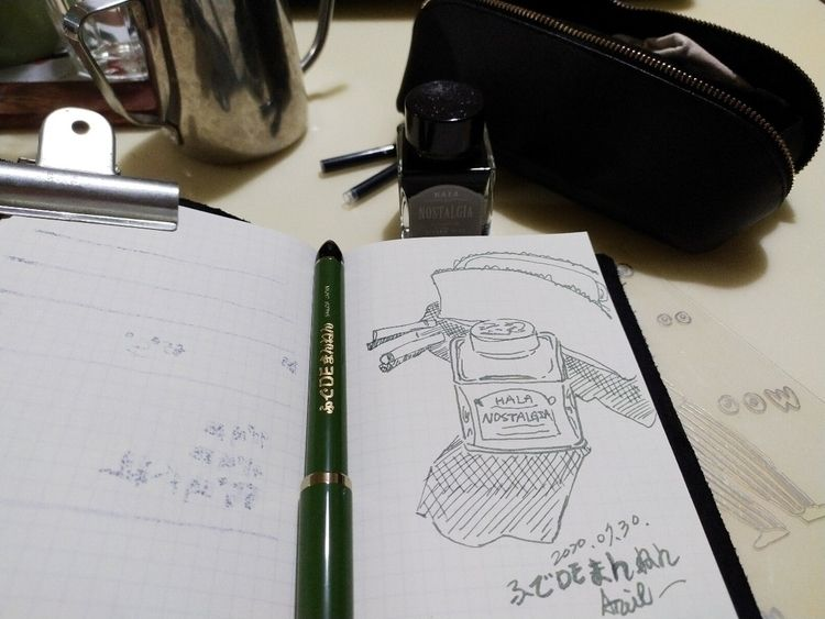 SAILOR 55度書法鋼筆 用一支鋼筆畫出軟筆線條效果,太好 - ariel_jhong | ello