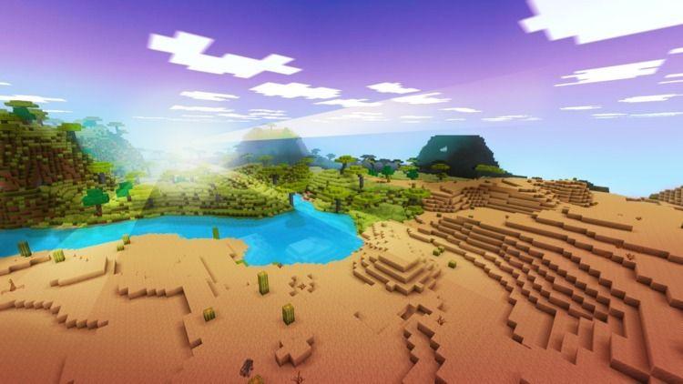 Beautiful Oasis Desert Realmcra - realmcraft | ello