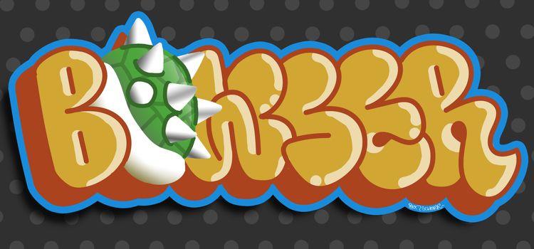 Bowser, SuperMario, Mario, throwie - benschorr   ello