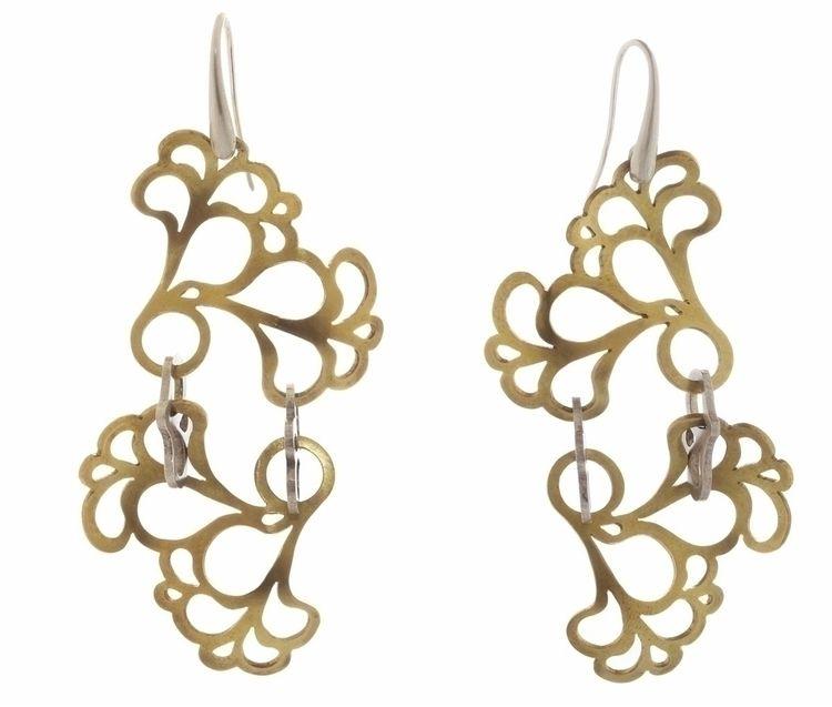 'Brass Impress' ring earrings s - mappie | ello