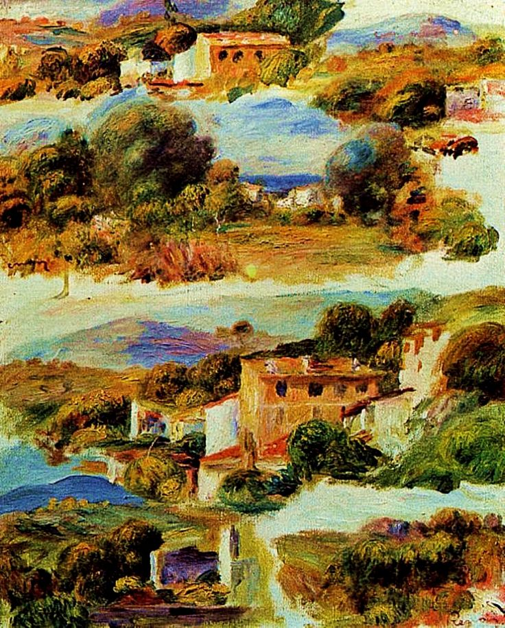 Houses Cagnes, Pierre-Auguste R - zorrojacques | ello