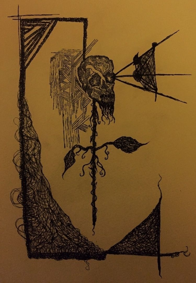 ditch - horrorart, scribble, ink - pushingflowers   ello
