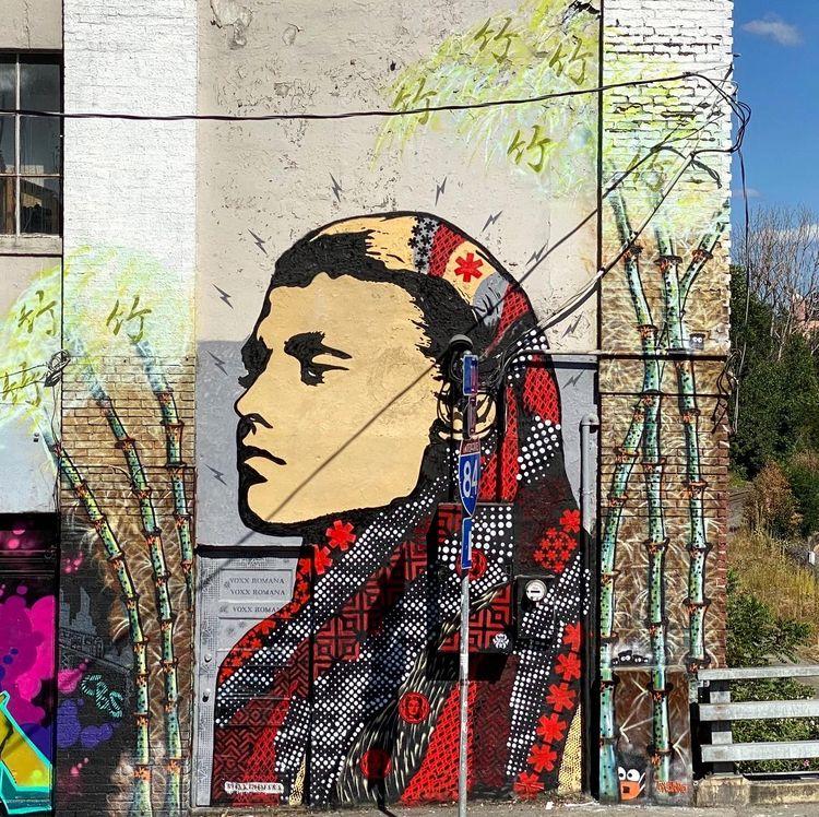 finished mural Portland 33rd Sa - voxxromana | ello