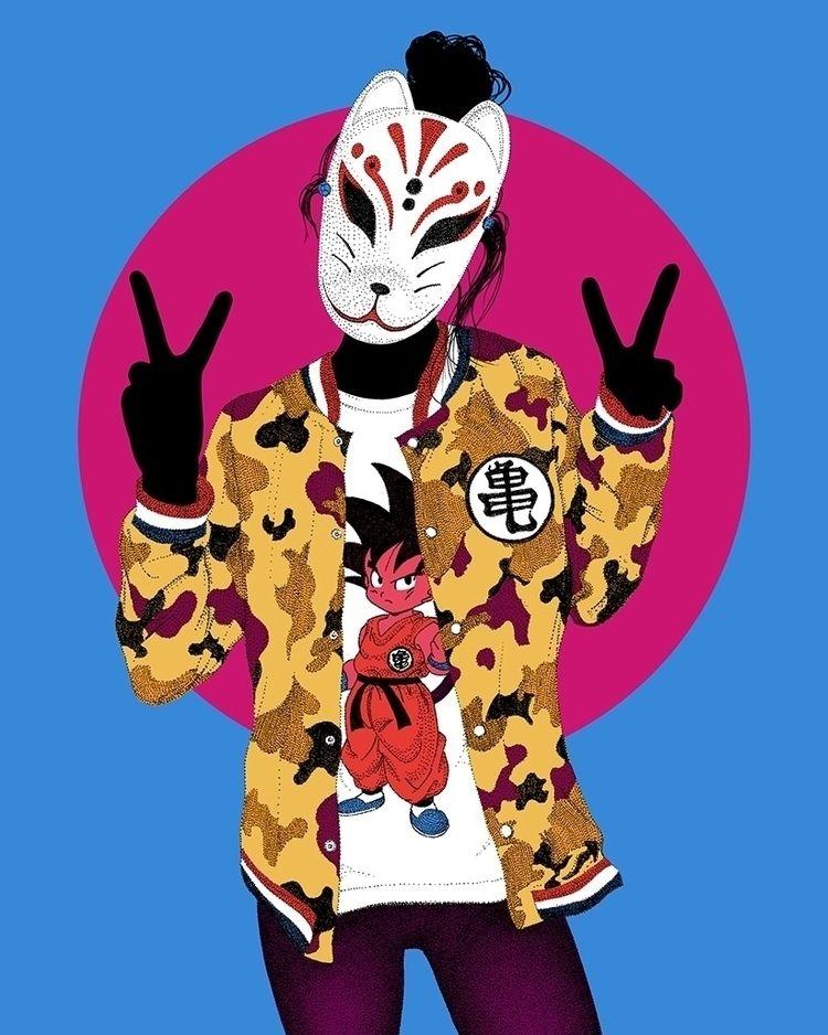 Dragon Kitsune japan - illustration - herre84 | ello