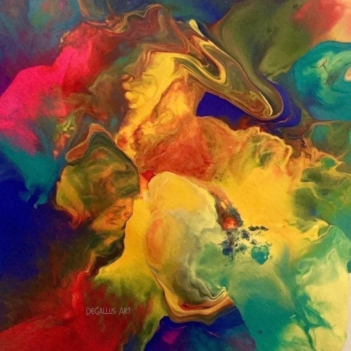 CAPRICORN NEBULA fluid painting - degallusart | ello