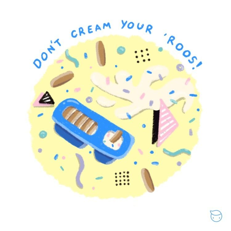 cream 'roos! economy - illustration - evandsears | ello
