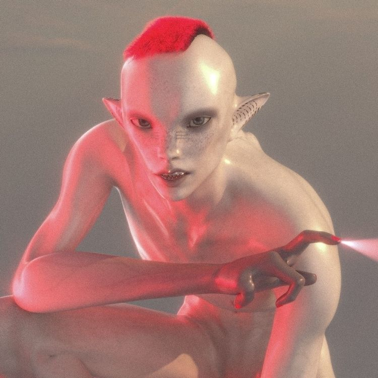 alien character study - 3d, rendering - pppanik   ello