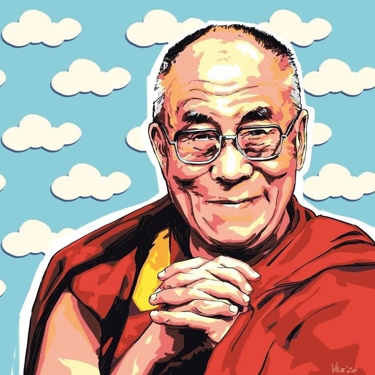 Dalai Lama / Draving di Valerio - itemlab_designstudio | ello