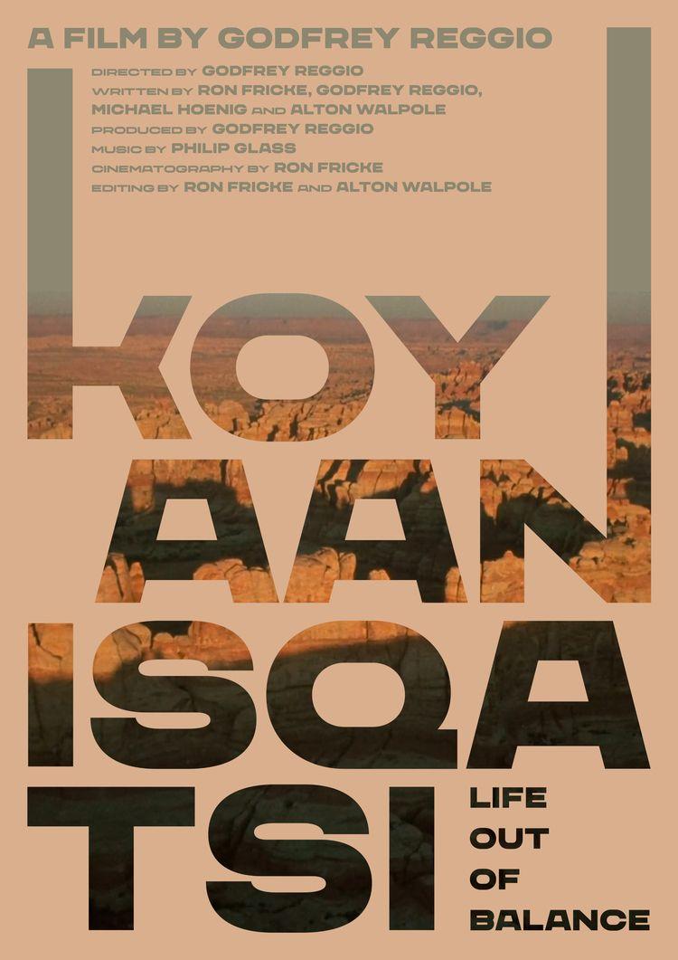 Film poster Koyaanisqatsi (USA - mathieuvancamp | ello