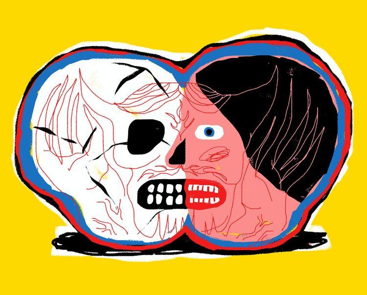 Sunday Scaries - illustration, skull - grossillustration | ello