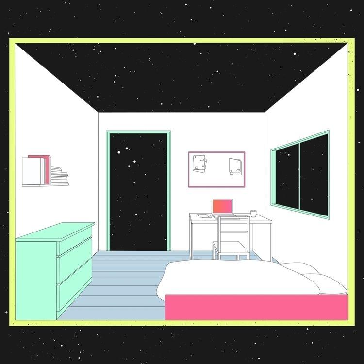 space - art, illustration, drawing - simonill | ello