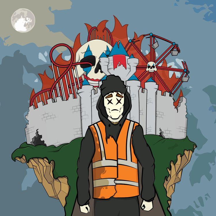 Lost theme park Vector illustra - sichadelic   ello