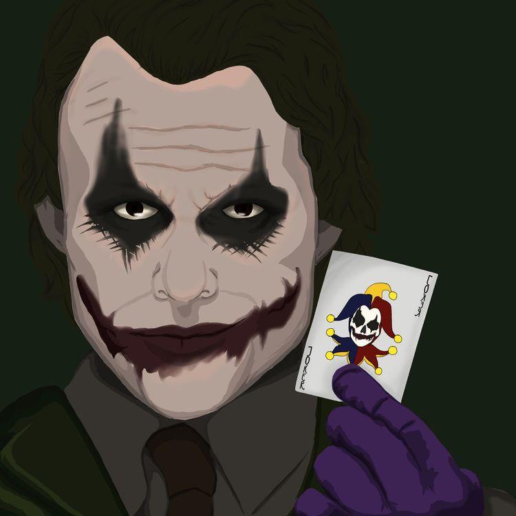 Joker drawing joker. favorite v - sichadelic   ello