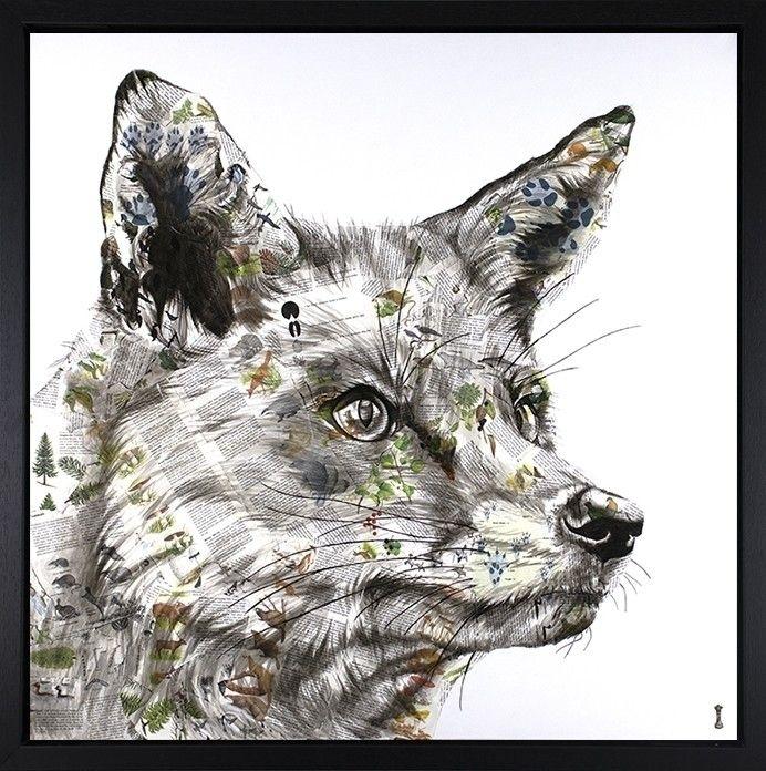 'Hunt': 30x30 portrait red fox - chess_art | ello