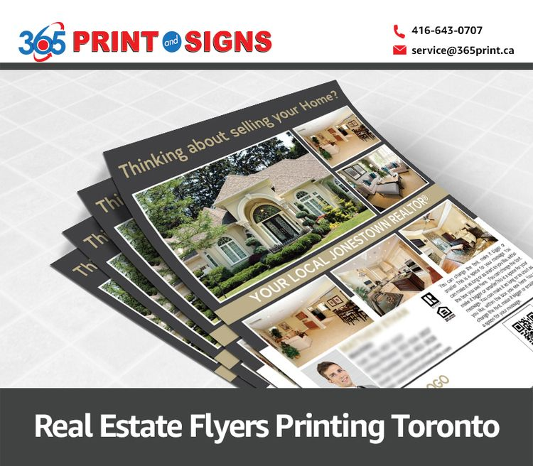 Real Estate Flyers Printing Tor - printandsigns | ello