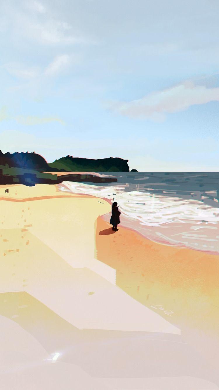 beach, landscape, art, digitalart - loizart | ello