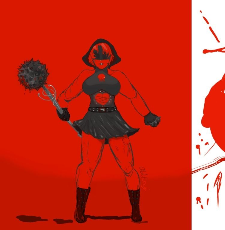 Executrix - mature, blood, digitalart - oddfungi | ello