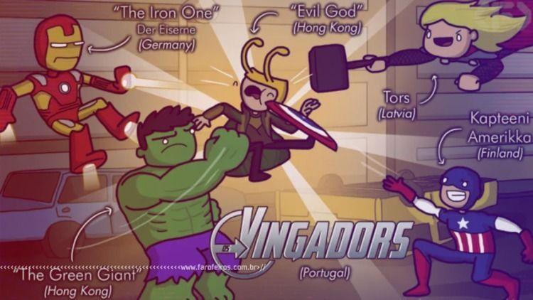 Personagens Marvel em outras lí - rockerz | ello