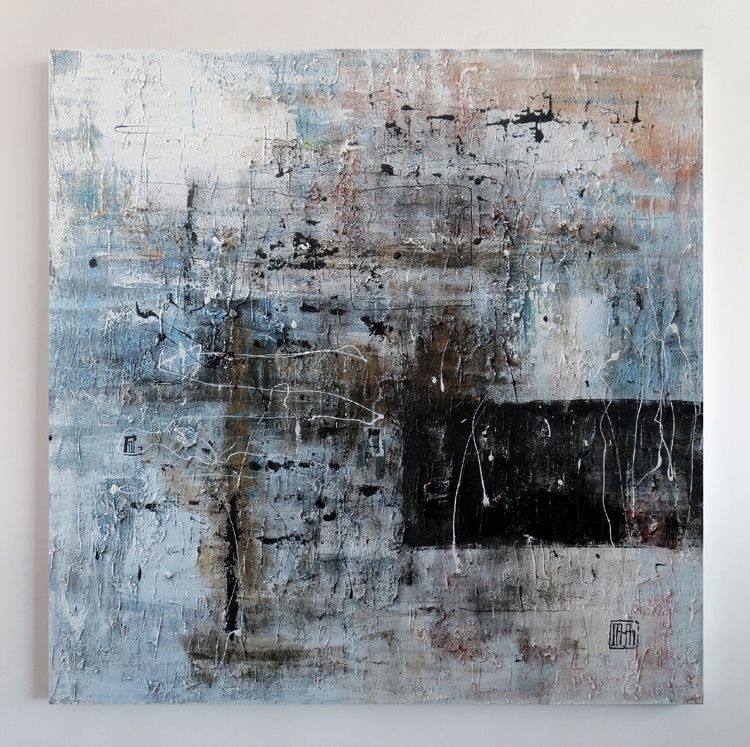 sold A62 acrylic canvas 120x120 - damianpavlovic | ello