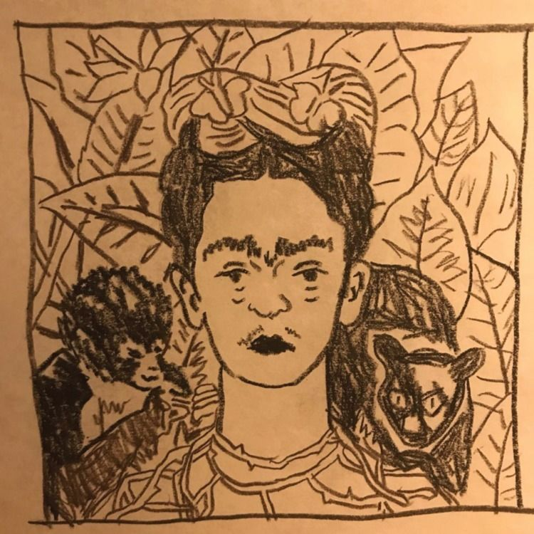 Frida sketch - daichrisart   ello