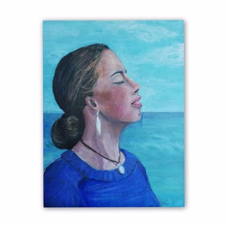 Iris Acrylic Canvas plate 31 41 - enniswan | ello