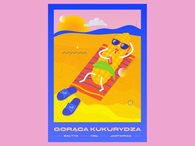 Hot corn - poster, jastarnia, kinozeglarz - ewelinagaska | ello