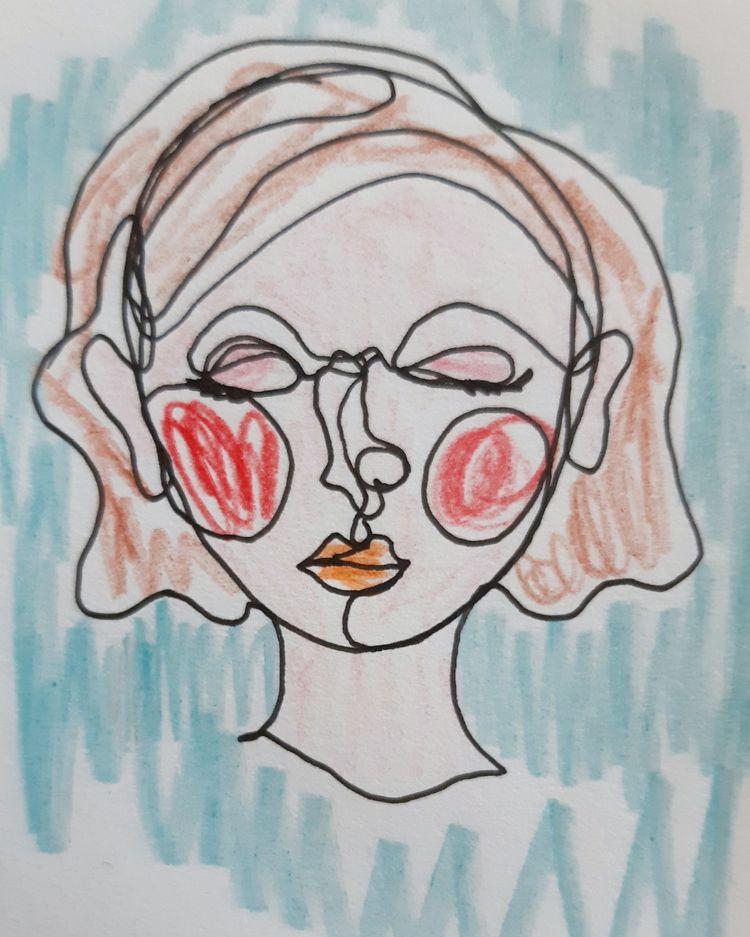 Sketch Ink Color pencils 2020 - sketch - enniswan | ello