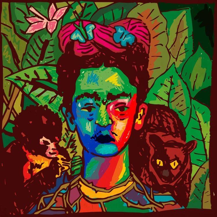 Frida Illustration - daichrisart   ello