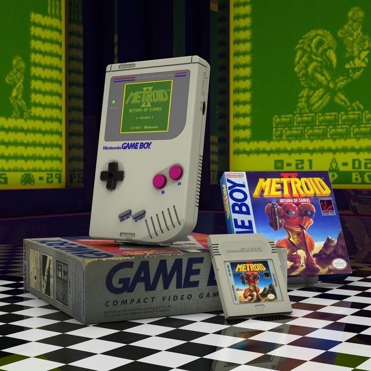 Gameboy Brick - Nintendo, Metroid - vjaimy | ello