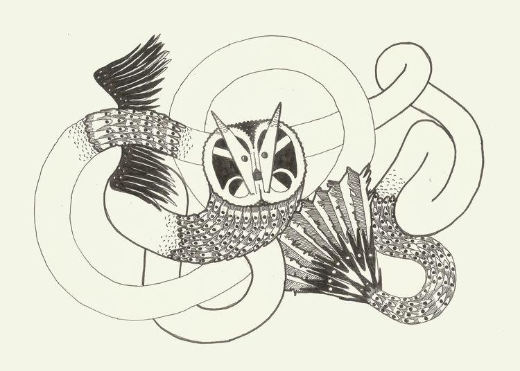 Enredo alado entanglement - ilustration - _davidnuu | ello