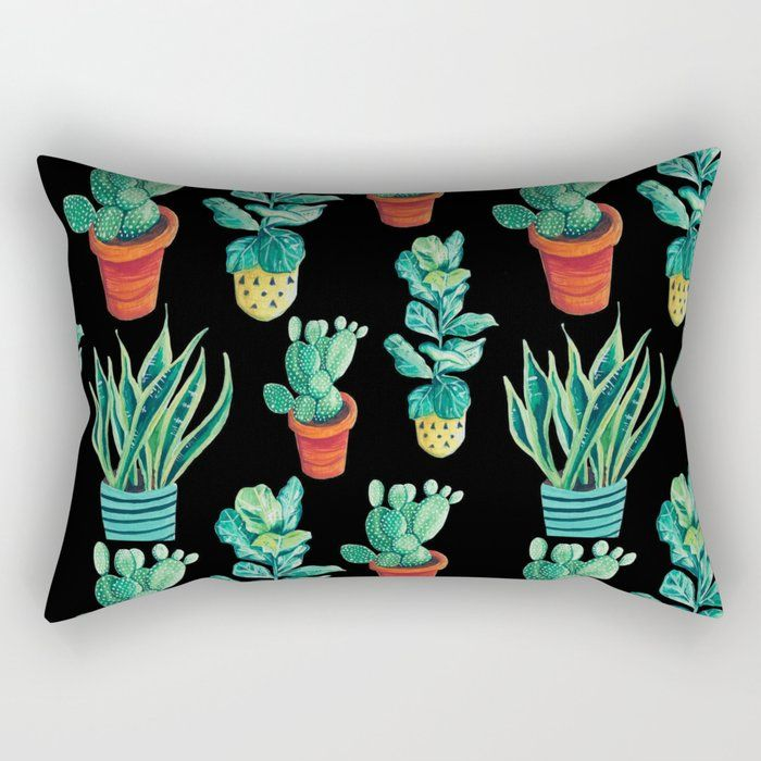 Watercolor pot plant pattern - society6 - sister_sphynx | ello