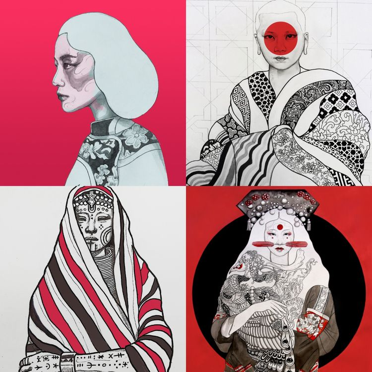 series paintings indiginous wom - lukegrayart | ello