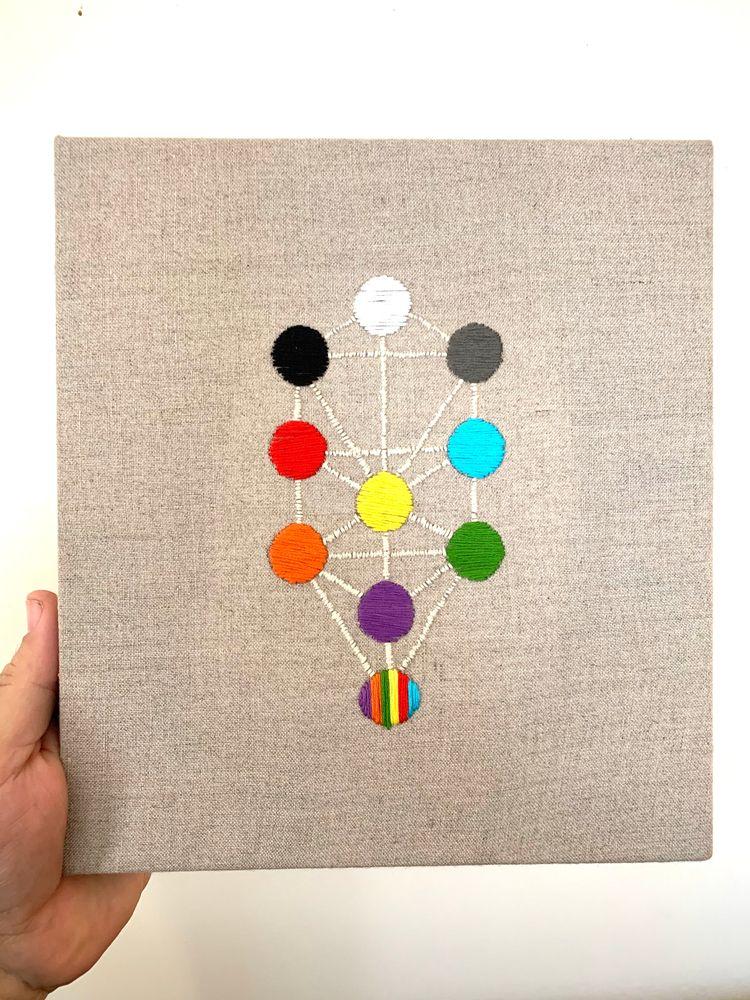 Hand embroidered tree life rain - marcmanning | ello