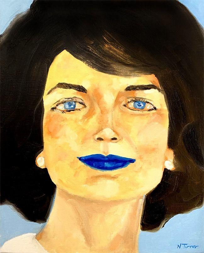 Jacqueline Kennedy - oil canvas - nealturner | ello