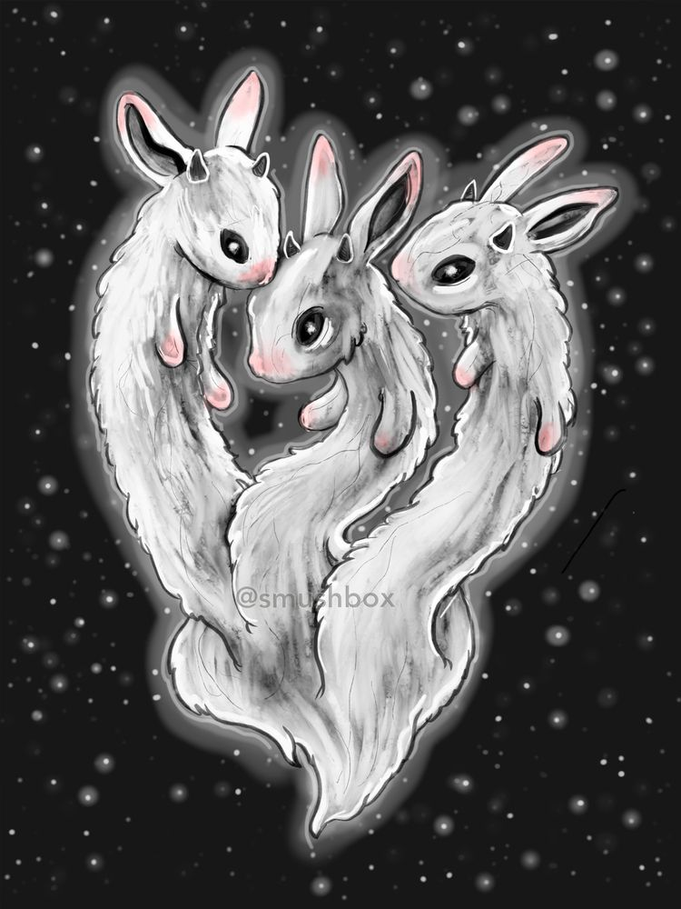 Drawlloween day 29 - Hydra Bunn - smushbox | ello