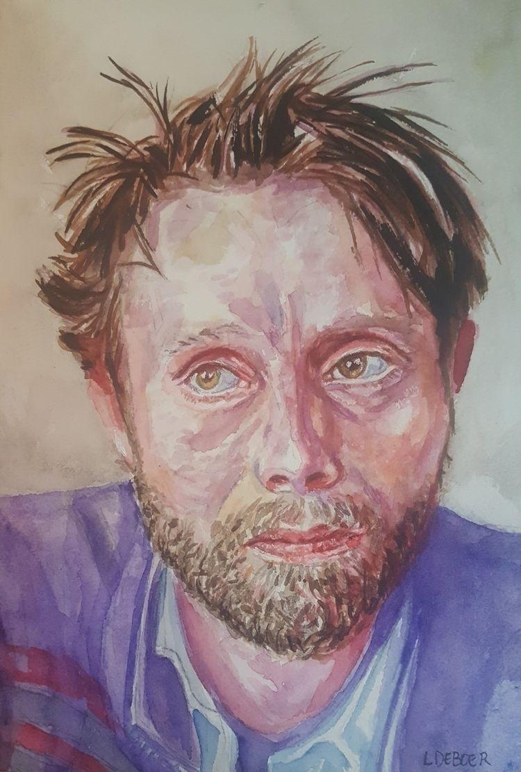Enjoyed painting Mads Mikkelsen - lorideboerdesigns   ello