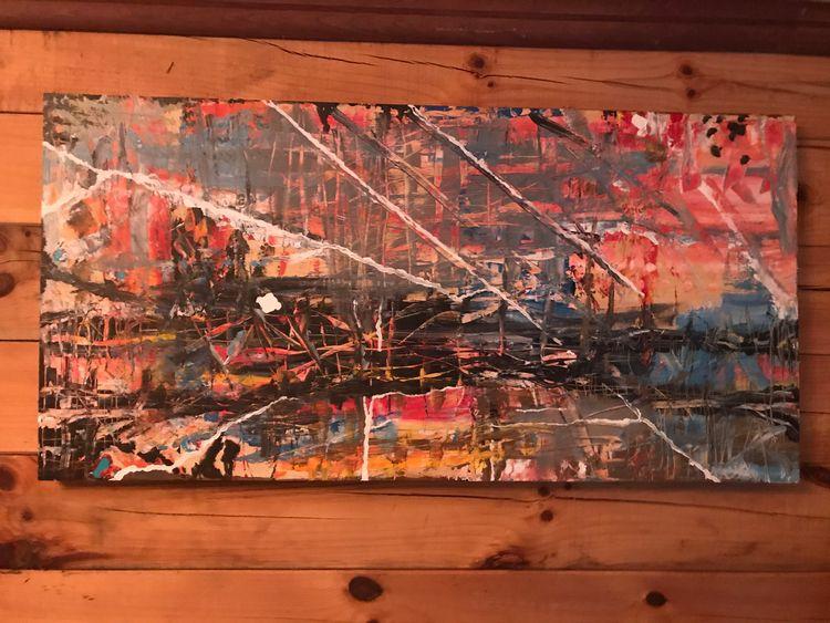 Perseid Sunset Acrylic Wood Pan - joetaylorartist | ello