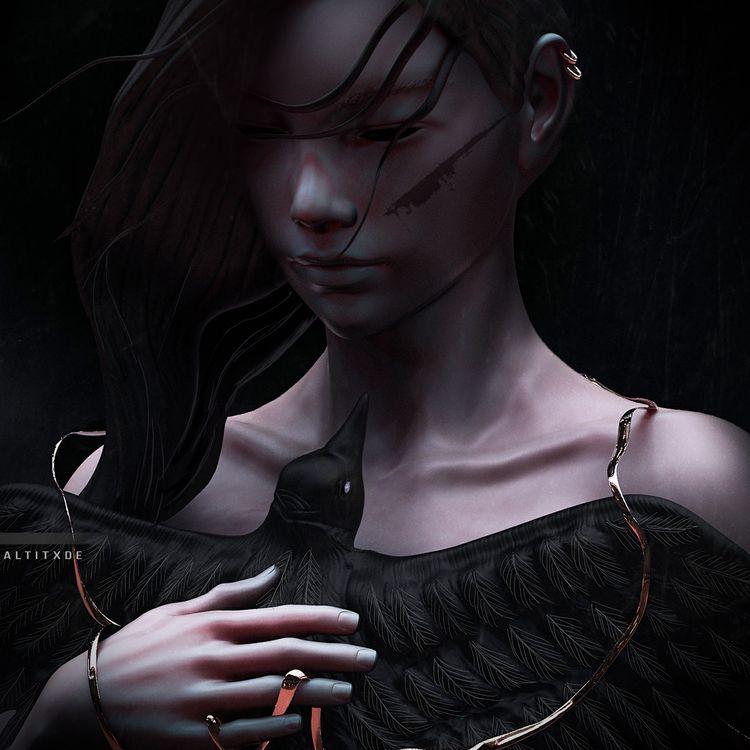 BOUND II - 3D, zbrush, characterdesign - altitxde | ello