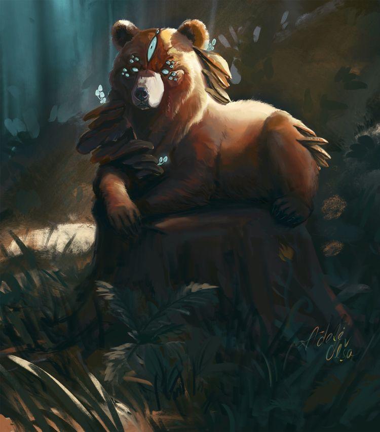 bear, animal, beast, decay, creature - druska | ello