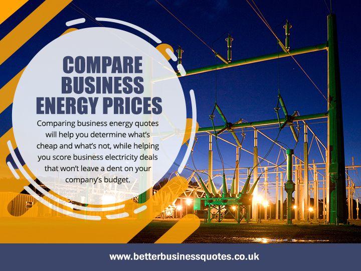 Compare Business Energy Prices  - betterbusinessquotes | ello