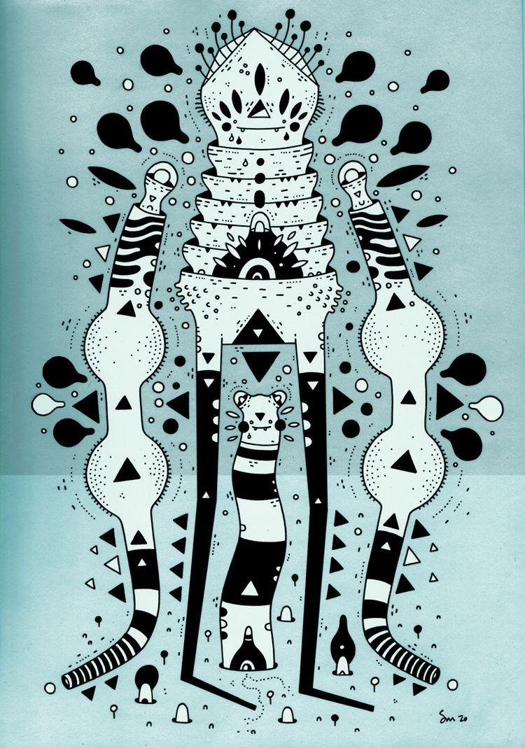 illustration - cosmicnuggets | ello