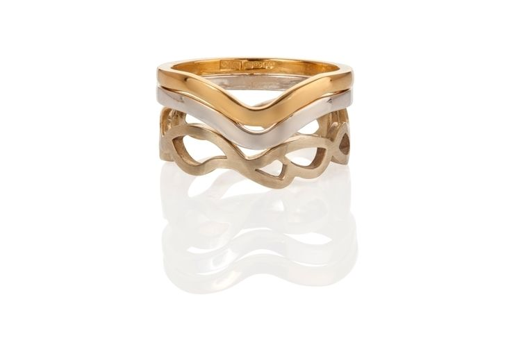 stacking rings silver gold enqu - dannyries   ello