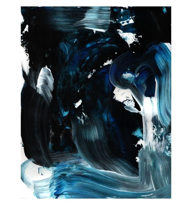 Tidal Heart, acrylic paper, 14  - scottapeshot | ello